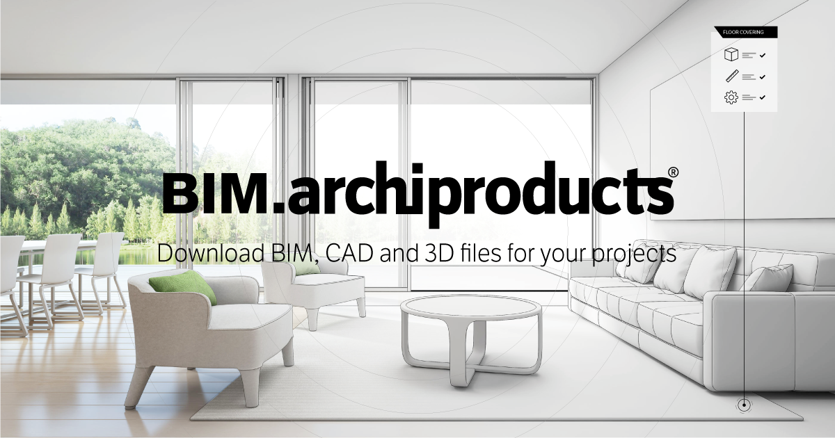 BIM ARCHIPRODUCTS | The largest BIM and CAD database for